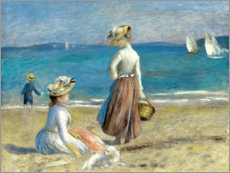 Foam board print  Figures on the beach - Pierre-Auguste Renoir
