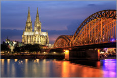 Wall sticker  Cologne Cathedral and Hohenzollern Bridge at night - Oliver Henze