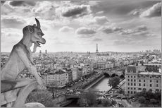 Wall sticker  Notre Dame Gargoyle overlooks Paris