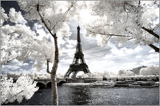Wall sticker Infrared - Paris Eiffel Tower