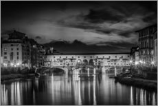 Wall sticker  FLORENCE Ponte Vecchio at Sunset - Melanie Viola