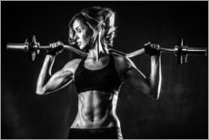 Gallery print  Sportswoman with a barbell