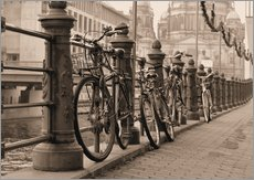 Gallery Print  Bicycles on a promenade