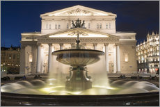 Gallery print  Fountain and Bolshoi Theatre
