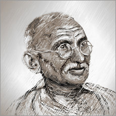Wall sticker  Gandhi - Christine Ganz