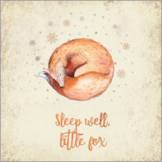 Wall sticker Sleep well little fox