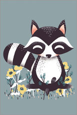 Gallery print  Animal friends - The raccoon - Kanzilue