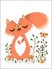 Wall Stickers  Animal friends - The squirrel - Kanzi Lue