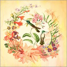 Wall sticker  Hummingbird II - Mandy Reinmuth