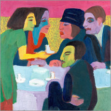 Wall sticker  Scene in the cafe - Ernst Ludwig Kirchner