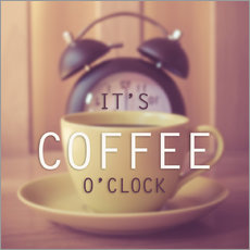 Wall sticker  It's coffee o'clock