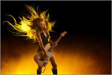 Gallery print  Rock girl with an electric guitar