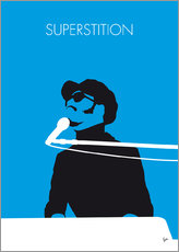 Wall Sticker  No039 MY STEVIE WONDER Minimal Music poster - chungkong