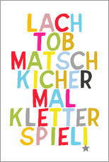 Wall Sticker  Laugh and play (German) - Ohkimiko