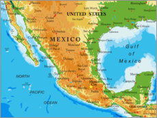 Wall Stickers  Mexico - Map