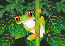Wall sticker  Hold on tight little frog! - Kidz Collection