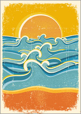 Wall sticker  Sea waves and yellow sand beach - Kidz Collection