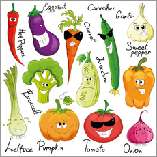 Wall sticker  Funny vegetables - Kidz Collection