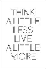 Wall sticker  think less, live more - Ohkimiko