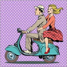 Gallery print  Couple on a scooter