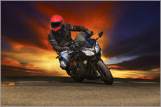 Gallery print  Motorcyclist in a curve
