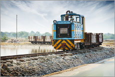 Gallery print  Old freight train, India