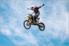 Wall sticker  Motorcycle racer jumping