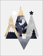 Wall sticker Christmas Mountains