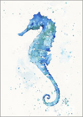 Wall sticker  Sailing Along (Seahorse) - Sillier Than Sally