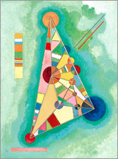 Wall sticker  Stained in triangle - Wassily Kandinsky
