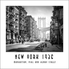 Wall Stickers  Historical New York, Pike and Henry Street - Christian Müringer