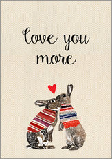Wall sticker Love you more