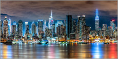 Wall Sticker  Midtown Skyline by Night, New York - Sascha Kilmer
