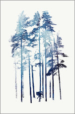 Wall sticker  Winter wolf - Robert Farkas