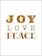 Wall sticker Joy, Love, Peace I