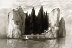 Wood print  The island of the dead - Max Klinger