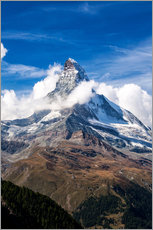 Gallery print  Matterhorn surrounded by clouds - Roberto Sysa Moiola