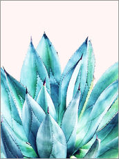 Wall sticker  Agave watercolor - Uma 83 Oranges