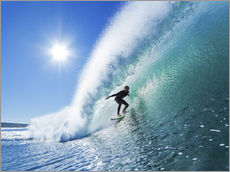 Gallery print  Surfer on Blue Wave