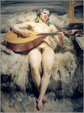 Wall sticker  The Lute Player - Anders Leonard Zorn