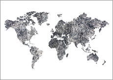 Wall Sticker  World Map - Dried