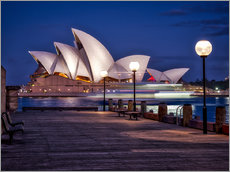 Gallery print  A boat passes through the Sydney Opera House - Jim Nix