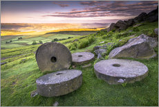 Wall sticker  Stanage Edge Millstones at sunrise - Andrew Sproule