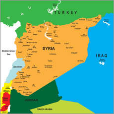 Gallery print  Syria - Map