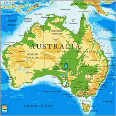 Gallery print  Australia - Topographic Map