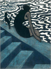 Wall sticker  La Baigneuse - Léon Spilliaert