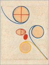 Aluminium print  The Seven-Pointed Star, No. 2 - Hilma af Klint