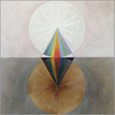 Wood print  The Swan, No. 12 - Hilma af Klint