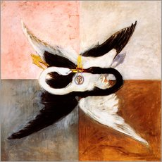 Wall sticker  The Swan - Hilma af Klint