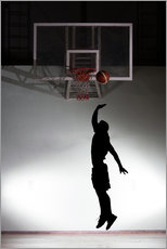 Wall sticker  Silhouette of a basketball player